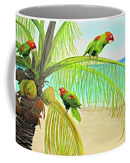 Parrot Beach Coffee Mug