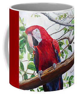 Parrot Portrait Coffee Mug by Marilyn  McNish