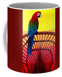 Parrot Sitting On Chair Coffee Mug