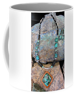 Parrot Wing Jasper Set In Gourd Wood #r114 Coffee Mug