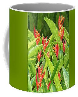 Parrots Flower With Background Coffee Mug