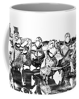 Parrots In Paradise Bw Coffee Mug