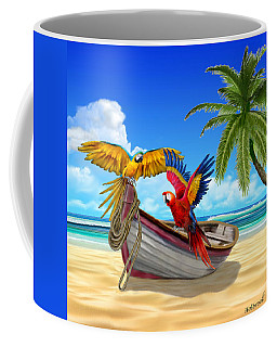 Parrots Of The Caribbean Coffee Mug by Glenn Holbrook