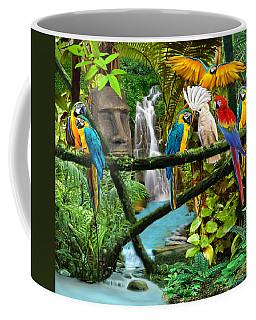 Parrots Of The Hidden Jungle Coffee Mug by Glenn Holbrook