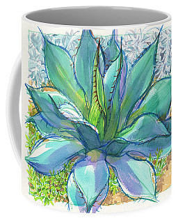 Coffee Mug featuring the painting Parrys Agave by Judith Kunzle