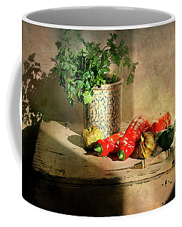 Coffee Mug featuring the photograph Parsley And Peppers by Diana Angstadt