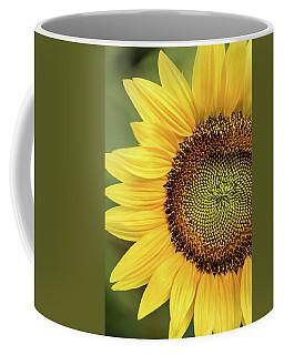 Part Of A Sunflower Coffee Mug