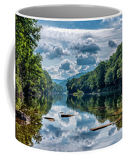 Coffee Mug featuring the photograph Partially Cloudy Gauley River by Thomas R Fletcher