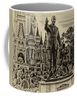 Partners Statue Walt Disney And Mickey In Black And White Mp Coffee Mug