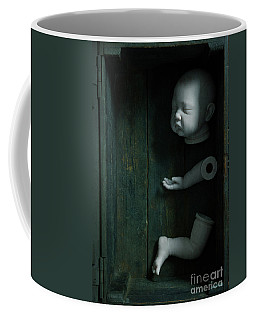 Parts Of A Plastic Doll In A Wooden Box Coffee Mug by Lee Avison