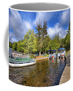 Coffee Mug featuring the photograph Party Barges At Palmer Point by David Patterson