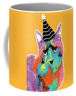 Party Cat- Art By Linda Woods Coffee Mug