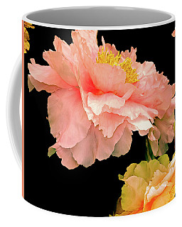 Pas De Deux Peonies With Yellow Coffee Mug