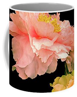 Pas De Deux Peonies With Yellow Coffee Mug
