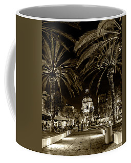 Coffee Mug featuring the photograph Pasadena City Hall After Dark In Sepia Tone by Randall Nyhof