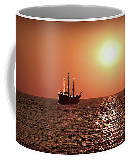 Coffee Mug featuring the photograph Passing By In Calm Waters by Joan  Minchak