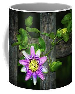 Passion Flower On The Fence Coffee Mug
