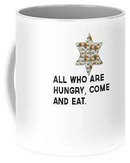 Coffee Mug featuring the mixed media Passover Matzo- Art By Linda Woods by Linda Woods