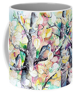 Pastel Aspen With Robins Coffee Mug