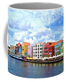 Pastel Building Coastline Of Caribbean Coffee Mug