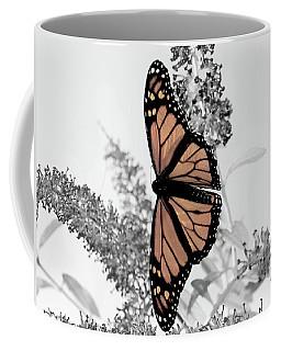Pastel Monarch On Black And White Coffee Mug