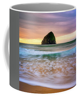 Coffee Mug featuring the photograph Pastel Morning At Kiwanda by Darren White