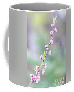 Pastel Painted Peach Blossoms Coffee Mug