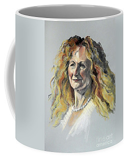 Pastel Portrait Of Woman With Frizzy Hair Coffee Mug