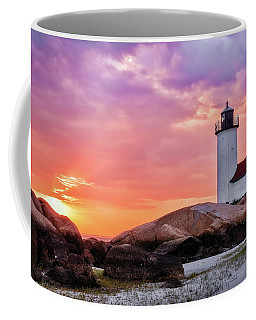 Coffee Mug featuring the photograph Pastel Sunset, Annisquam Lighthouse by Michael Hubley