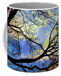Coffee Mug featuring the digital art Pastel Sunset Silhouette by Shawna Rowe