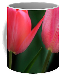 Coffee Mug featuring the photograph Pastel Tulips by David Millenheft