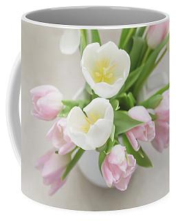 Coffee Mug featuring the photograph Pastel Tulips by Kim Hojnacki
