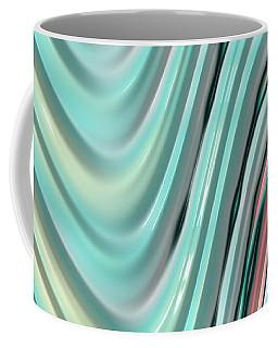 Coffee Mug featuring the digital art Pastel Zigzag by Bonnie Bruno