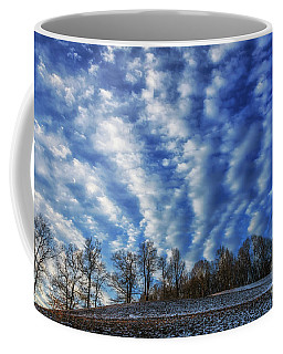 Coffee Mug featuring the photograph Pasture Field And Winter Sky by Thomas R Fletcher