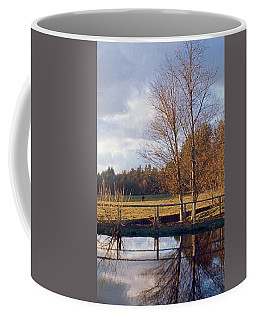 Coffee Mug featuring the photograph Pasture Pond by Laurie Stewart