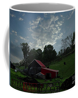 Pasture Under Elements Coffee Mug