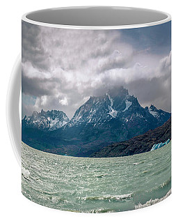 Patagonia Lake Coffee Mug by Andrew Matwijec