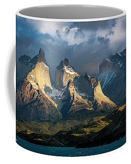 Patagonian Sunrise Coffee Mug by Andrew Matwijec