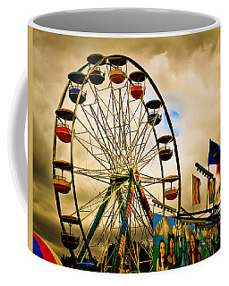 Coffee Mug featuring the photograph Patch Of Blue by Bob Orsillo
