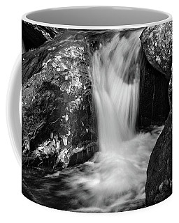 Patch Of Light On Rocks In Black And White Coffee Mug