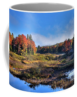 Coffee Mug featuring the photograph Patches Of Fog At The Green Bridge by David Patterson