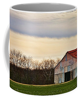 Patchwork Metal-siding Barn With Rusted Roof Coffee Mug