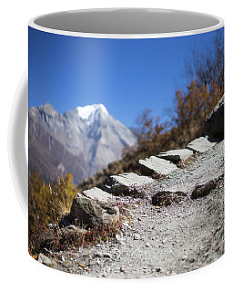 Path And Peak In The Himalaya Mountains, Annapurna Region, Nepal Coffee Mug