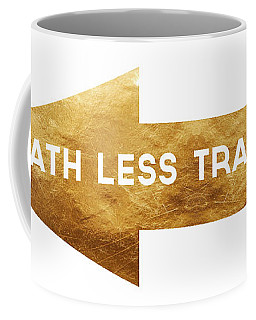 Path Less Traveled-  Art By Linda Woods Coffee Mug