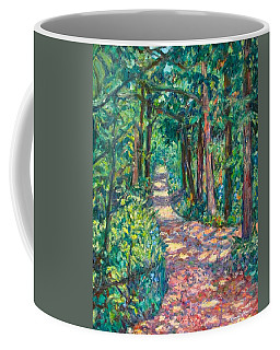 Coffee Mug featuring the painting Path On Sharp Top by Kendall Kessler