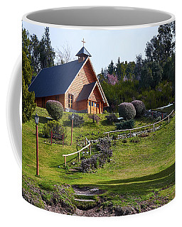 Rustic Church Surrounded By Trees In The Argentine Patagonia Coffee Mug