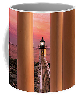 Coffee Mug featuring the photograph Marshall Point - Beacon Of Light by Expressive Landscapes Fine Art Photography by Thom