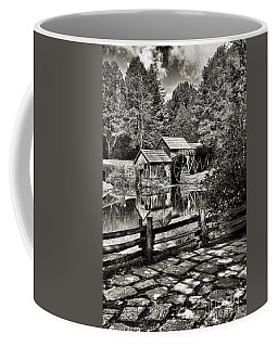 Coffee Mug featuring the photograph Pathway To Marby Mill In Black And White by Paul Ward