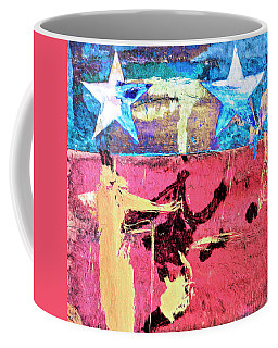 Coffee Mug featuring the painting Patriot Act by Dominic Piperata