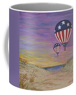 Patriotic Balloons Coffee Mug by Debbie Baker